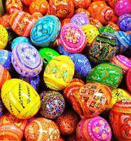 10 PCS Wooden Hand Painted AUTHENTIC Ukrainian Easter Egg Eggs Pysanky Pysanka
