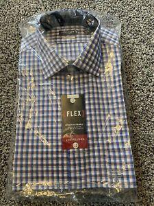 Van Heusen Dress Shirt Flex Regular Fit Size 15.5 32/33 Stonehedge