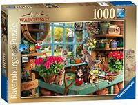 Ravensburger Is he watching 1000pc Jigsaw Puzzle Cat Kittens Pets Christmas Gift