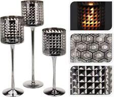 Candelabros y portavelas decorativos color principal negro de vidrio para el hogar