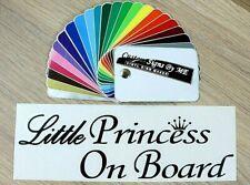 Little Princess On Board Car Safety Sticker Vinyl Decal Adhesive Window Bumper B