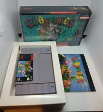 CLAYMATES SNES SUPER NINTENDO GAME NEAR MINT COMPLETE WITH INSERTS