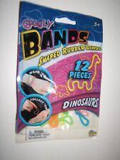 Googly Bands DINOSAUR 12 pc Wrist Rubber Band/Bandz Boy Easter Basket Toy