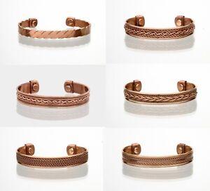 Copper Magnetic Bracelet Arthritis Pain Therapy Energy Cuff Bangle Men & Women
