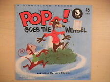 "Disneyland Records ""POP! Goes The Weasel"" 45 RPM 1961"