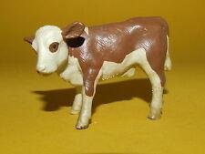25) Schleich Schleichtier Kuh Rind Kalb braun weiß 13132