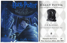 ''Harry Potter and the Order of the Phoenix'' 1st US Edtn