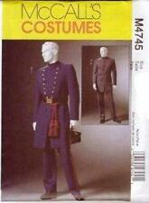 McCall's Sewing Pattern M4745 Men's Civil War Coat Trousers Costume XN XL XXL