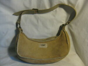 pre-owned UGG Australia purse handbag Suede Zip Top Hobo Shoulder  bag