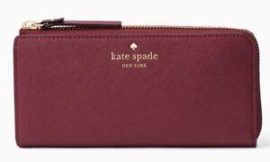Kate Spade zip around continental wallet MIKAS POND NISHA Leather ~NWT $178~