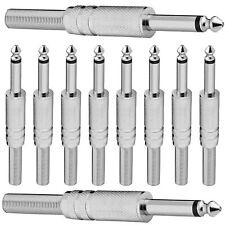 Klinkenstecker Mono Metallausführung 6,35mm Kopfhöhrer Stecker 10 Stück Stecker