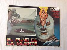 RARE VINTAGE MEXICAN MOVIE POSTER 1982 El Puno de la Muerte El Santo Plata Sexy