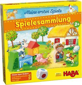 Spielesammlung, HABA 304223, 10 Spiele, Brettspiel, Lernspiel, ab 2 Jahren