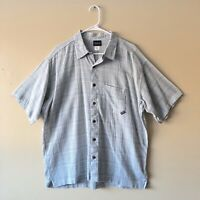 Patagonia Mens Organic Cotton Gray Plaid Short Sleeve Button Down Shirt Size L