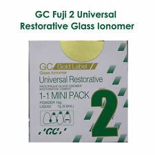 5 X GC Gold Label 2 Radiopaque Glass Ionomer Universal Restorative Big 15Gm/10Gm