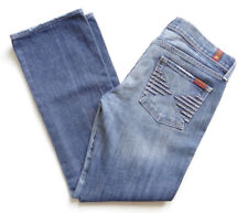7 For All Mankind COLETTE Womens Low Rise Jeans  Straight Leg Faded Jeans sz 29