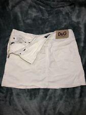 Dolce & Gabbana D&G Poolside Ittierre Spa Lined Denim Short Skirt Made In Italy