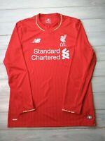 95bef5eef5083 Liverpool jersey medium 2015 2016 long sleeve shirt New Balance men's  football