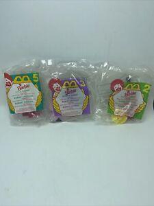 McDonalds Happy Meal Toys Sealed New Japanese Kenya USA Barbie Figurines Set Of3