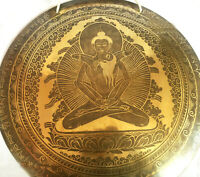 20 inches Buddha shakti Engraved Gong-Mantra carved Gong-Nepalese Temple gong
