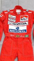 F1 Ayrton Senna 1991  Printed suit Go Kart/karting Race/ Racing Suit