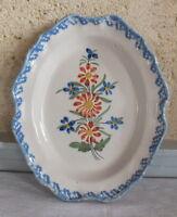 Piccolo Piatto Ovale Ceramica 19ème Auvillar Ceramiche