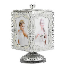 Rotating 3R Photo Display Picture Frame Jewelry Storage Music Box Gift