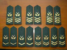 07's series China PLA Army NCO and Sergeant Major Shoulder Boards,7 Pair,Set