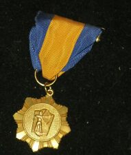 1963 N.A.A. PROFESSIONAL MEDAL National Archery Association? Yellow/Blue Ribbon