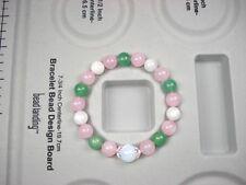 Natural Rose Quartz, Aventurine, Moonstone Love Healing Fertility Bracelet.