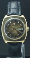 Vintage Rado Swiss Men Auto-Winding Cal.312 Day/Date GP Case Watch Leather Band