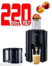 Braun J300 New 220 Volt 800W Juice Extractor Juicer 220v