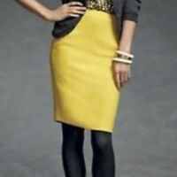 CABI Curry Mustard Pencil Skirt ,new .