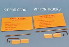1Kit Safety Seal Kit Accessories for Cars+1 Kit Auto Kit Accessories for Trucks