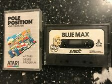 2 ATARI 400 800 XL XE PC COMPUTER CASSETTE TAPE GAMES BLUE MAX & POLE POSITION