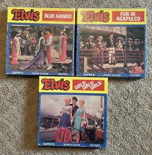 3 ELVIS MOVIES SUPER 8 SOUND FUN IN ACAPULCO, BLUE HAWAII, GIRLS! GIRLS! GIRLS!