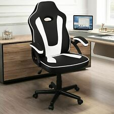 Executive Gaming Chair Swivel Home Office Racing Gamer Desk Chair White Blue Red