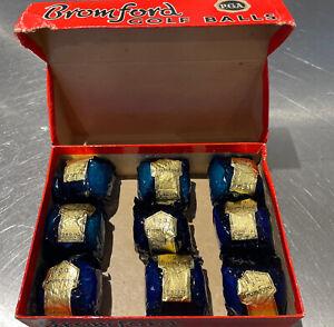 Box of 9 Wrapped Vintage Bromford Golf Balls in Original Box RARE