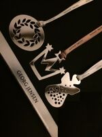 GEORG JENSEN MIXED SET (3) Christmas Decorations SILVER Limited Edition NEW