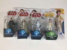 Lot of 4 - Star Wars - Force Link Princess Leia, Stormtrooper, Luke, Gen Leia