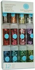 Martha Stewart Crafts Iridescent Glitter 12-Pack: Vintage Leaf Glitter
