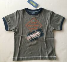 NWT Gymboree Construction Ahead 3 3T Gray Road Machinery Detour T-Shirt