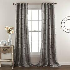 Lush Decor Swirl Room Darkening Curtains Set  84 x 52 Grey
