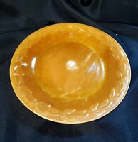 9 inch Iridescent Peach Luster Oven Ware Fire King Made in USA Plate