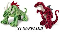 NICI PLUSH CREATURE GREEN & RED 15CM - CHOICE OF 2 SOFT TOYS - BRAND NEW TAGGED