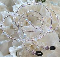 Sterling Silver & Clear AB Crystal Eyeglass Chain (2935) Lanyard