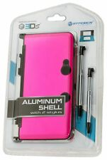NEW PINK  Aluminum Shell with 2 Retractable Stylus Pens for The OLD Nintendo 3DS