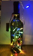 12� Brown Lighted Bottle Lamp With Timer Lights.