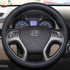 Leather Steering Wheel Cover for Hyundai Tucson 2010 2012 2013 2014 2015 IX35