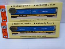 N Scale  (2)pcs Con-Cor 89' FlatCar Trailer Train w.Container Pacer Stacktrain